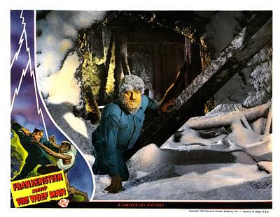 Frankenstein Meets The Wolf Man, Main Art Print by Everett