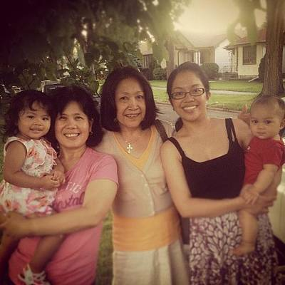 Photograph - 3 Generations Of Ladies And There by Robert Garcia