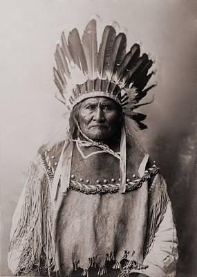 Apache Warrior Photograph - Geronimo 1829-1909, Chiricahua Apache by Everett