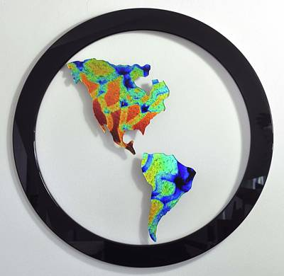 Glass Art - Global Warming II by Michelle Ferry