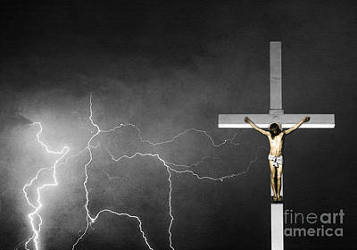 Photograph - Good Friday - Crucifixion Of Jesus Bw by James BO Insogna