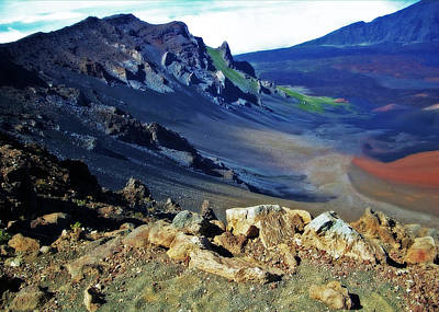 Haleakala Crater In Maui Hawaii Art Print by Sheila Kay McIntyre