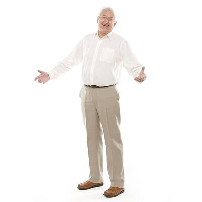 Button Down Shirt Photograph - Happy Senior Man by