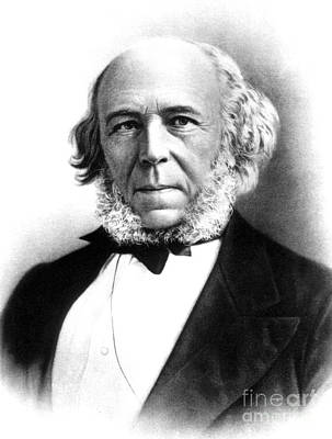 Herbert Spencer, English Polymath Art Print by Science Source