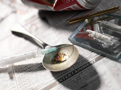 Heroin Abuse Art Print by Tek Image
