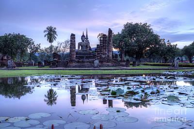 Historical Temple Park In Thailand. Art Print