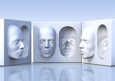 Ambiguity Photograph - Hollow-face Illusion,artwork by David Mack