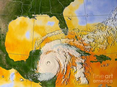 E 20 Photograph - Hurricane Wilma by NASA / Science Source