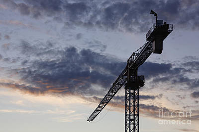 Industrial Crane Art Print by Jeremy Woodhouse
