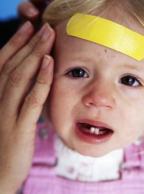 Injured Baby Girl Art Print