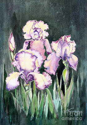 Loose Style Painting - Iris by Diana  Tyson