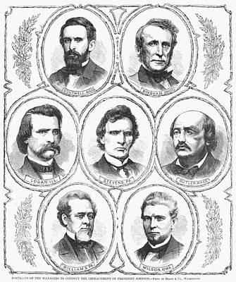 Photograph - Johnson Impeachment Trial by Granger