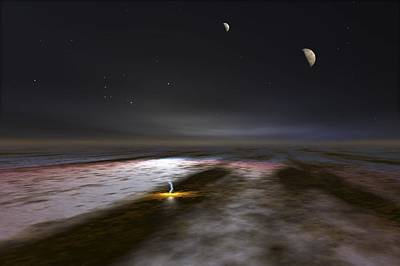 Galilean Moons Photograph - Jupiter And Its Moons, Artwork by Walter Myers