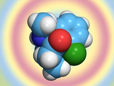 Ketamine Molecule, Recreational Drug Art Print
