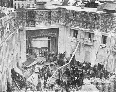 Knickerbocker Storm Damage, 1922 Art Print by Science Source