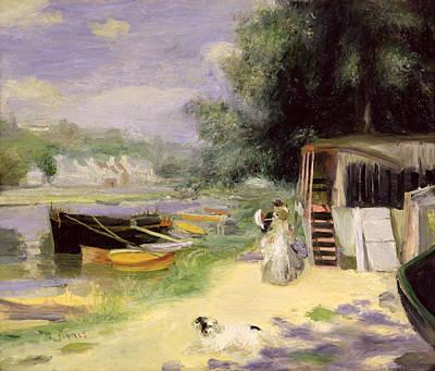 La Grenouillere Art Print by Pierre Auguste Renoir