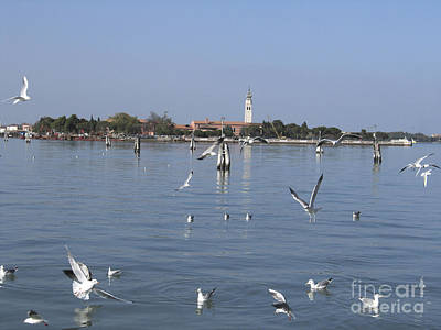 Lagoon. Venice Art Print by Bernard Jaubert