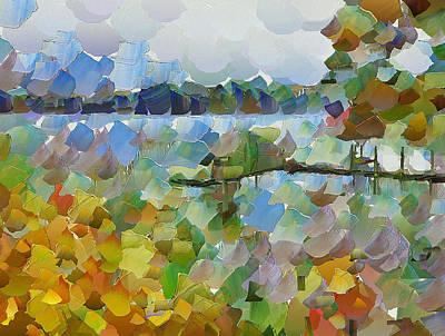 Digital Art - Lake View by Yury Malkov