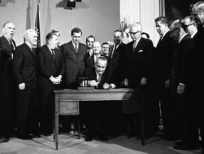 Lyndon Photograph - Lbjs Great Society Programs. President by Everett