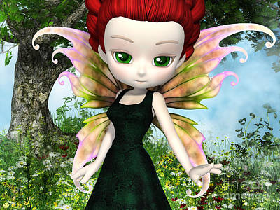 Enchanter Digital Art - Lil Fairy Princess by Alexander Butler