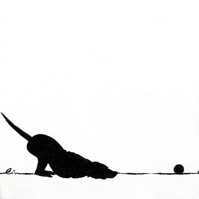 Little Dogs Doing Tricks On Little Canvas Art Print by Cindy D Chinn
