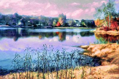 Longview Lake Art Print by Laurie Douglas