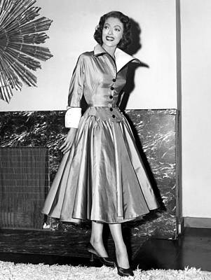 Full Skirt Photograph - Loretta Young Show, Loretta Young by Everett