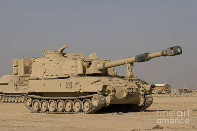 M109 Paladin, A Self-propelled 155mm Art Print by Terry Moore