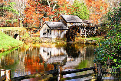 Photograph - Mabry Mill by Ronald Lutz