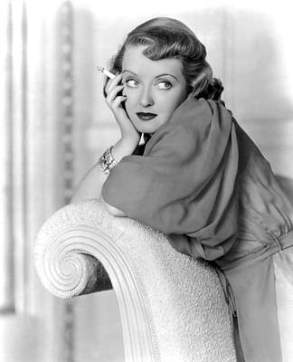 Colbw Photograph - Marked Woman, Bette Davis, 1937 by Everett