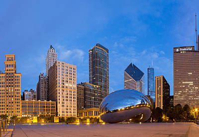 Windy Photograph - Millennium Park In Chicago by Twenty Two North Photography