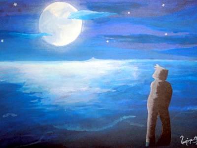 Painting - Moons Brightness by Poornima M