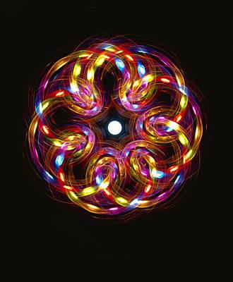 Multicoloured Lights Art Print