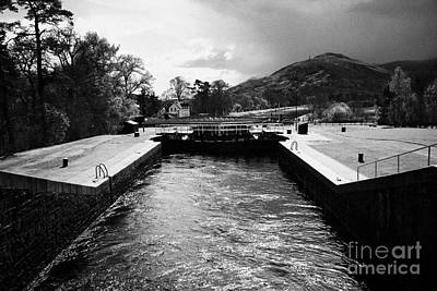 Caledonian Canal Photograph - Neptunes Staircase Series Of Locks On The Caledonian Canal Near Fort William Highland Scotland Uk by Joe Fox