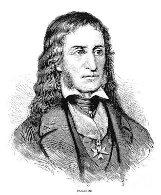 Nicolo Paganini (1782-1840) Art Print by Granger