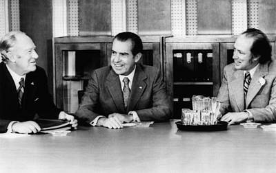 Nixon Presidency. From Left Us Art Print