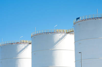 Art Print featuring the photograph Oil Tanks by Hans Engbers