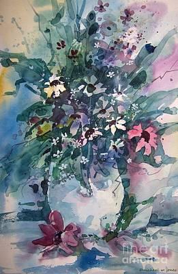 Oklahoma Painting - Oklahoma Wildflowers by Micheal Jones