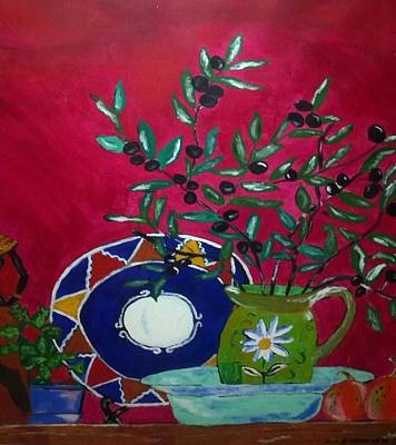 Twitter Mixed Media - Olives by Julie Butterworth
