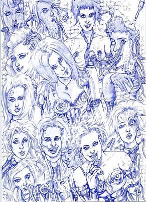 Fantasy Art Girl And Monster