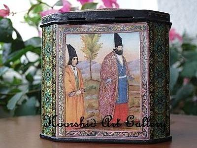 Decoupage Painting - Painting And Decoupage On Box by Ameneh Anoosheh