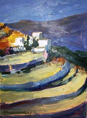 Painting - Paros Lefkes by George Siaba