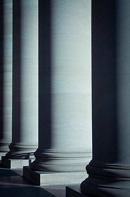 Pillars Of Law And Education Art Print