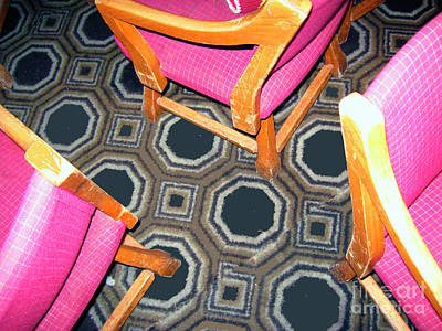 3 Pink Chairs                  Art Print