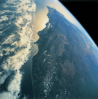 Satellite View Photograph - Planet Earth Viewed From Space by Stockbyte
