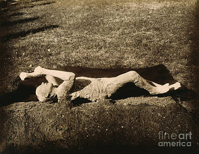 Photograph - Pompeii: Plaster Cast by Granger