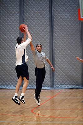 President Barack Obama Plays Basketball Print by Everett
