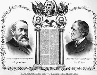 Presidential Campaign, 1888 Art Print by Granger