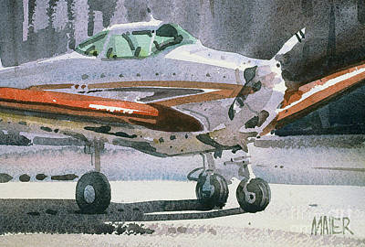 Plane Painting - Private Plane by Donald Maier