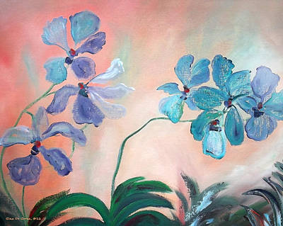 Painting - Purple Orchids by Gina De Gorna